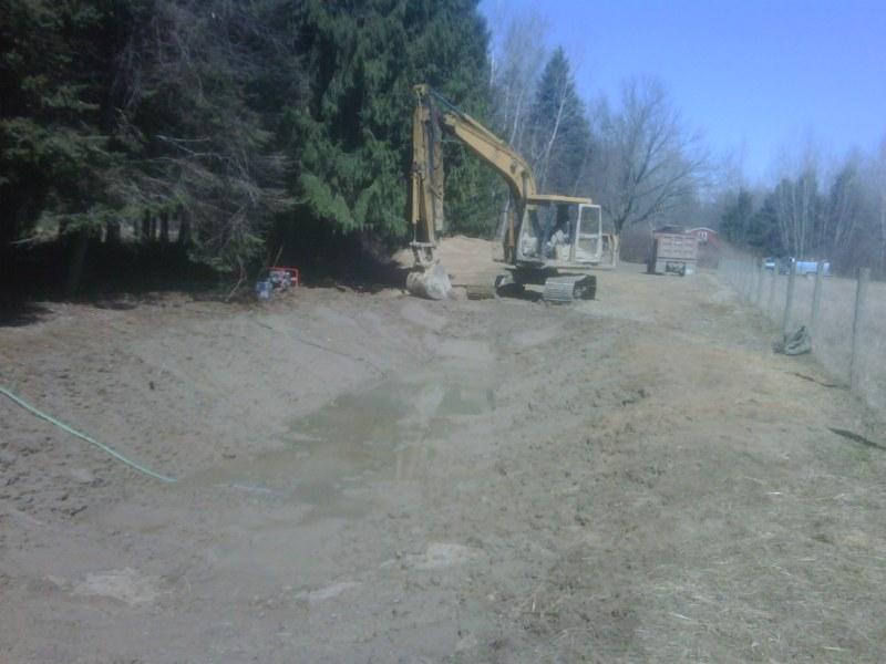 Birch Run Mi Pond Construction